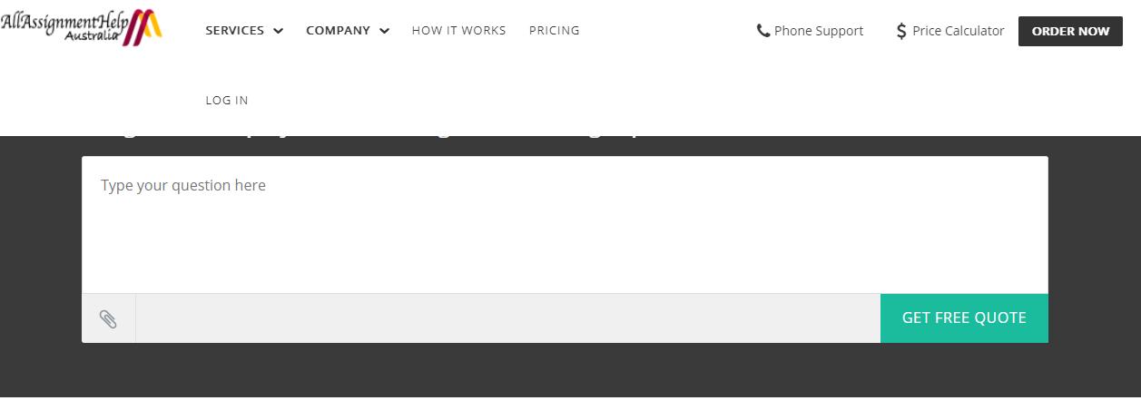 allassignmenthelp.com.au home page