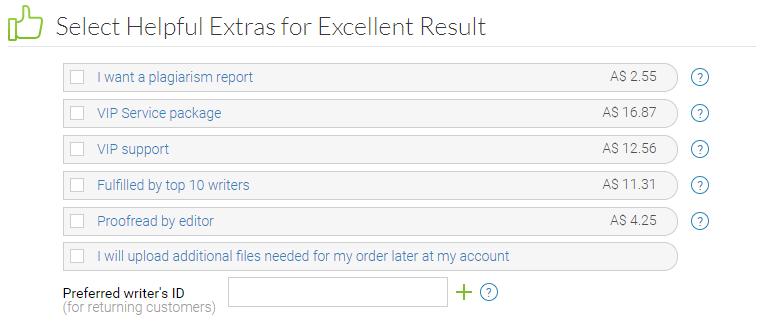aussiessay.com extras
