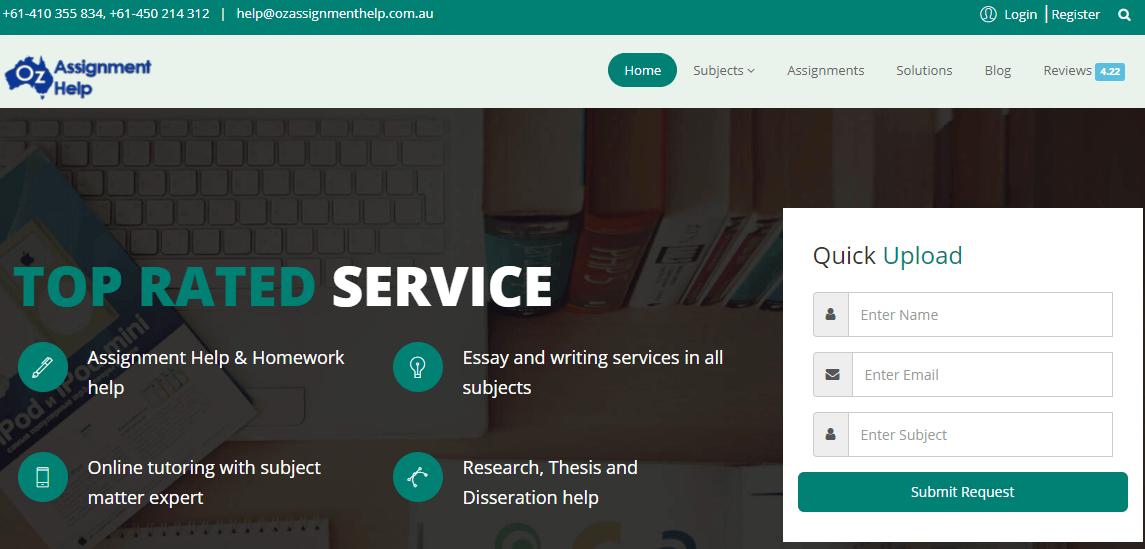 ozassignmenthelp.com.au home page