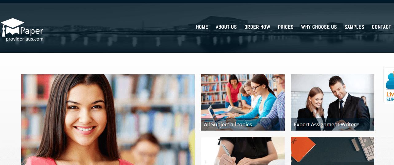 paperprovider-aus.com home page