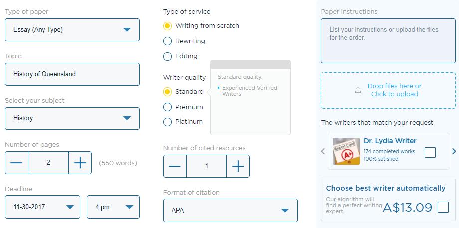 au.edubirdie.com order form