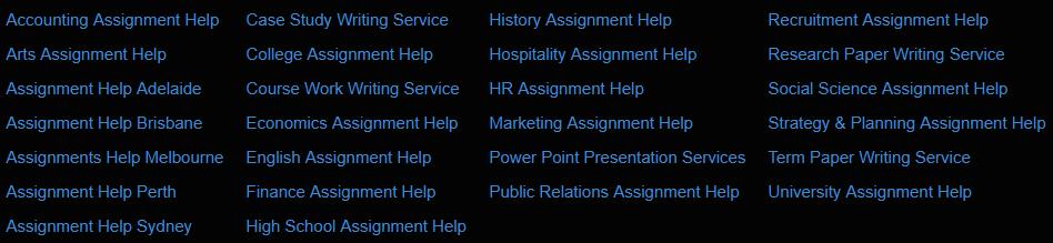 topqualityassignment.com services