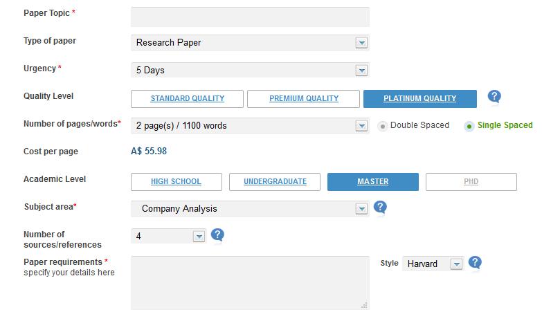 aussiewriter.com order form
