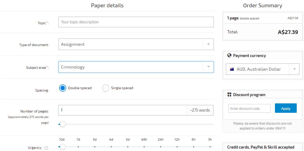 myassignmentwriting.com.au order form